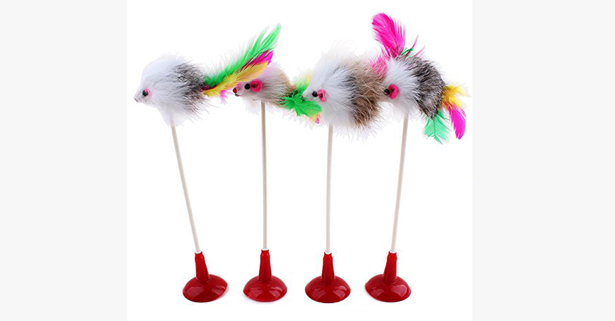 Pet Cat Feather False Mouse Toys