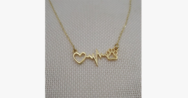 Paws&Heart Connection Pendant Necklace