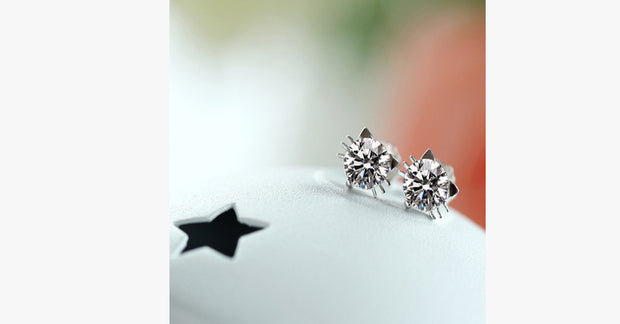 Cute Kitty Diamond Earrings