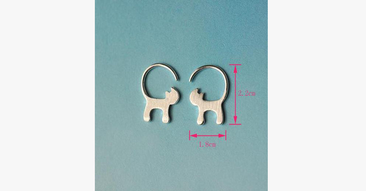 Lovely Cat Long Tail Earring