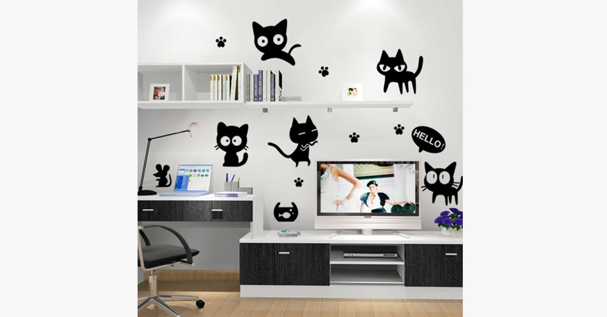 Small Black Removable Wall Stickers
