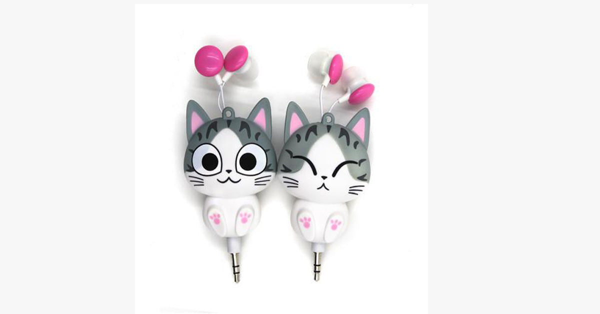Cat Cartoon Headphones