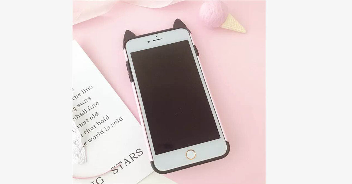 Cat Combo Iphone Phone Shell Ring Buckle