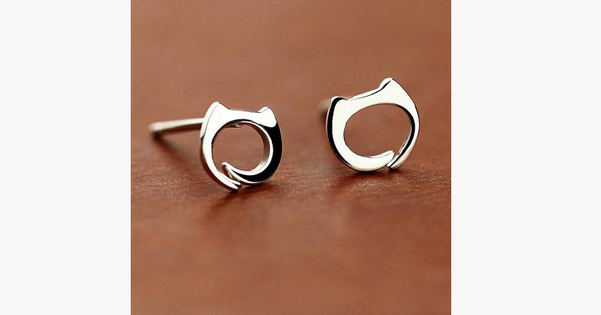 Cat Stud Earring