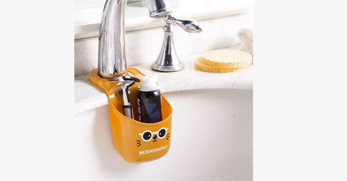Kitchen Bathroom Sink Hanging Cartoon Storage Rack Bag