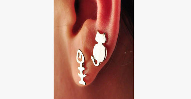 Cat-Fish Stud Earrings