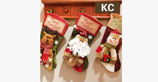 Christmas Socks Gift Bag