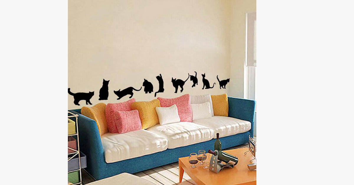 Black Waterproof Wall Stickers