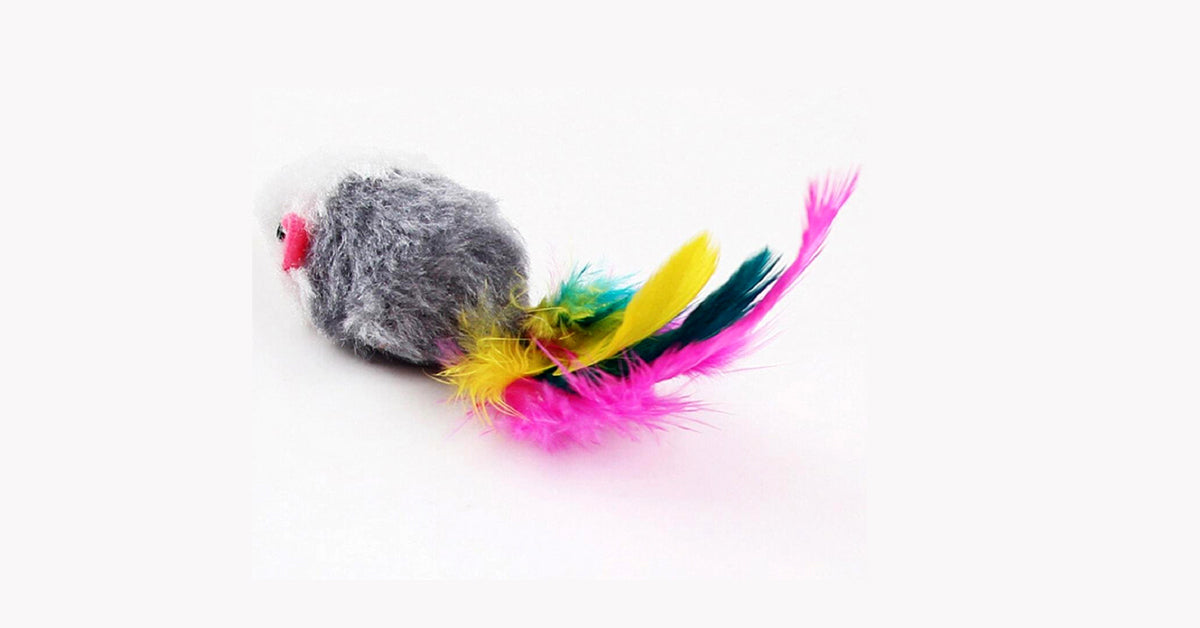 Soft Fleece False Mouse Cat Toys Color Random