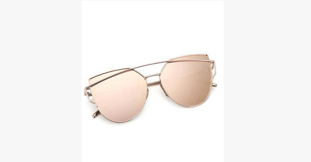 Retro Mirror Cat-Eye Sunglasses