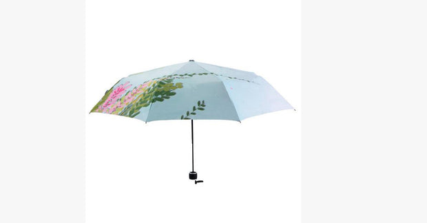 Cat in the Woods Art Umbrella
