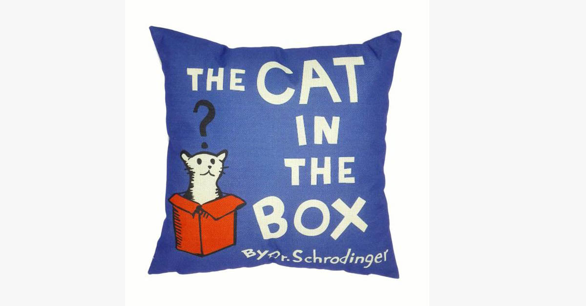 The Cat In The Box Pillow Cover