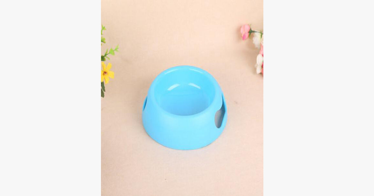 Blue High Grade Matte Non Slip Hand Holding Cat Bowl