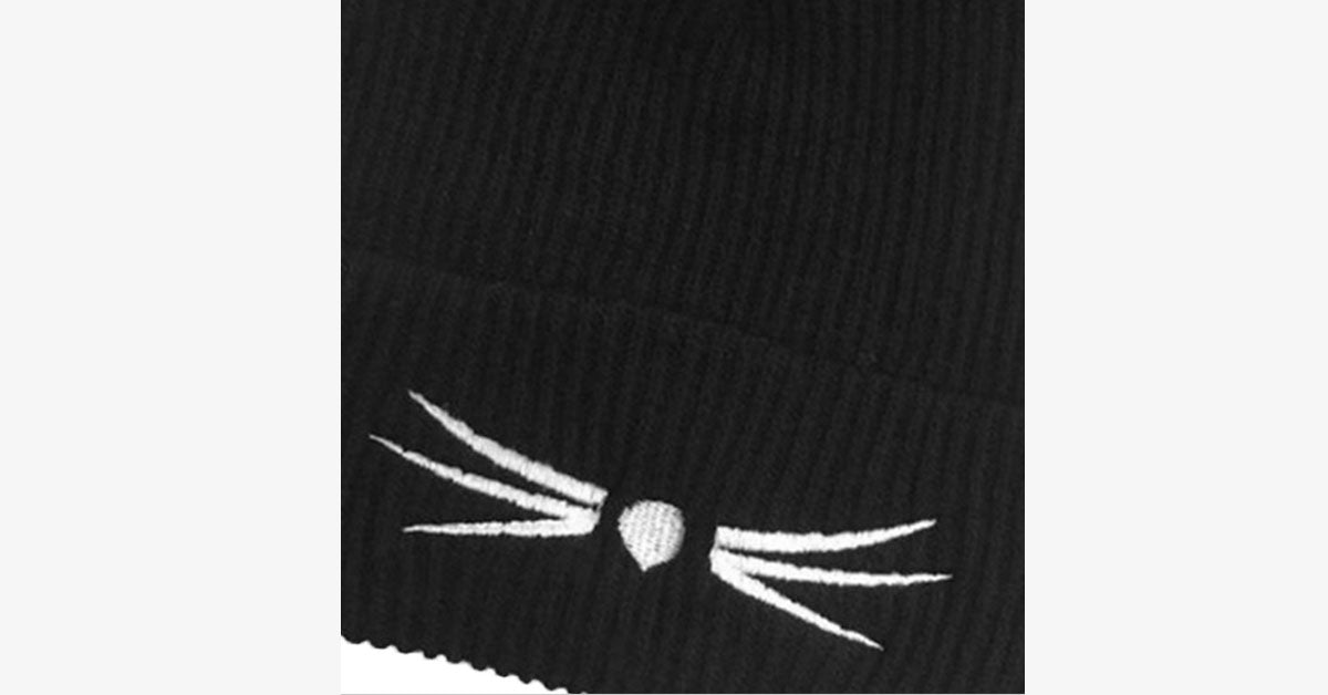 Cat Ear Knitted Wool Hat