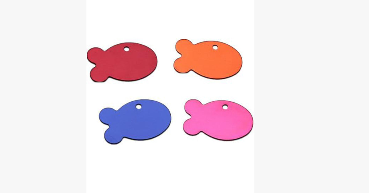 personalized designers fish shaped pet cat tag the meow shop