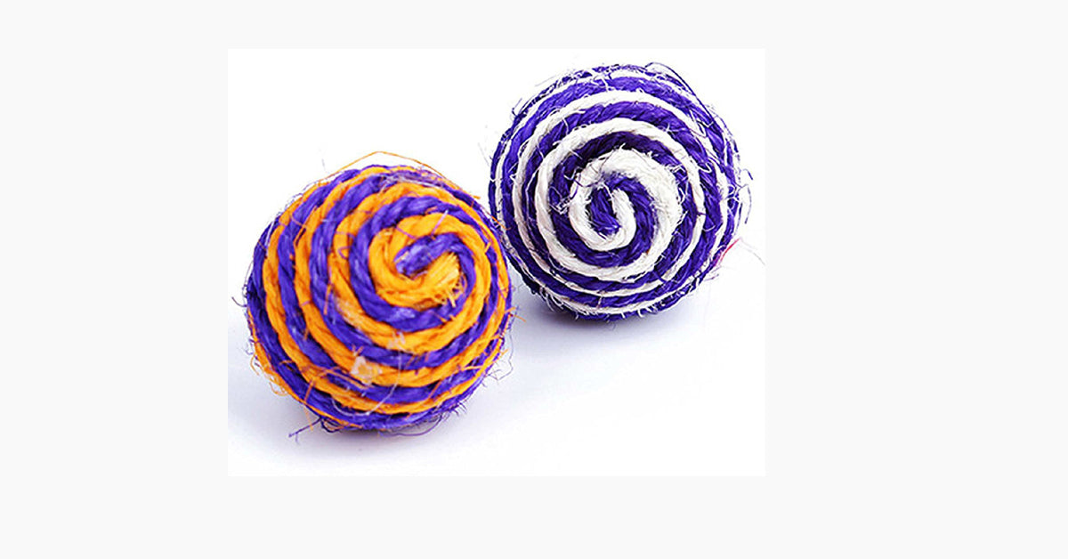 Cat Pet Rope Woven Ball Random Colors
