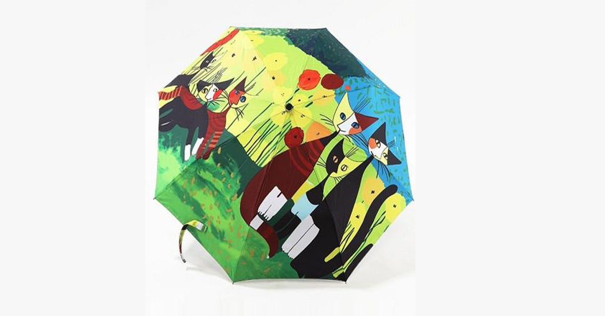 Abstract Art Gallery Cat Umbrella