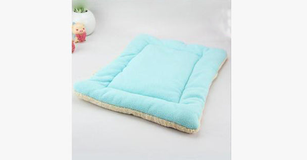 Blue Pet Cat Crate Warm Bed Mat