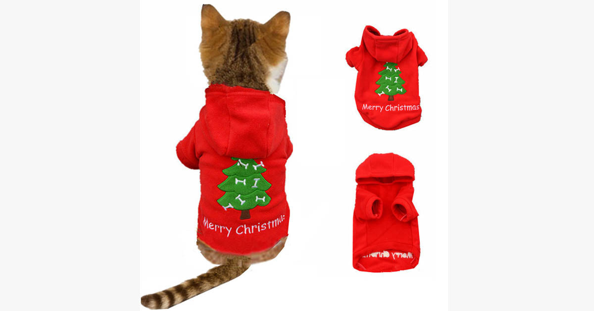 Santa Cat Christmas Costume