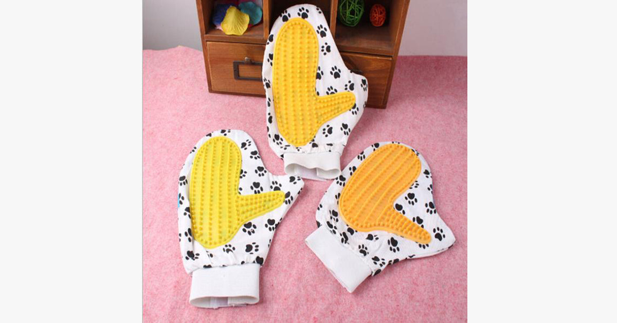 Special Rubber Massage Gloves for Cat Bath