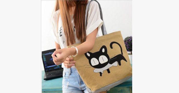 Beau and Moe Cat Handbag