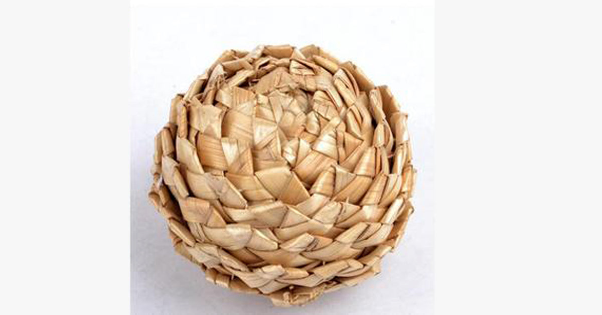 Natural Straw Cat Claw Toy Training Ball