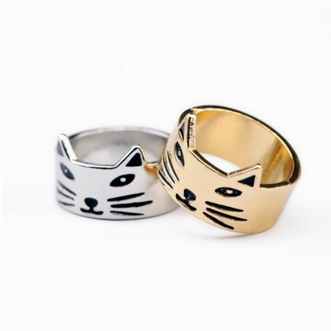Cat Crown Ring