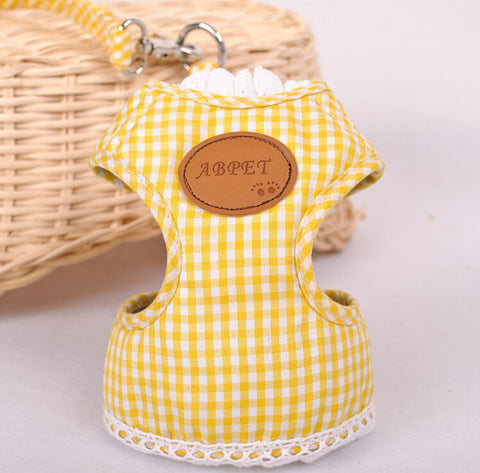 Cat Lace Chest Back Type Traction Belt-Yellow color