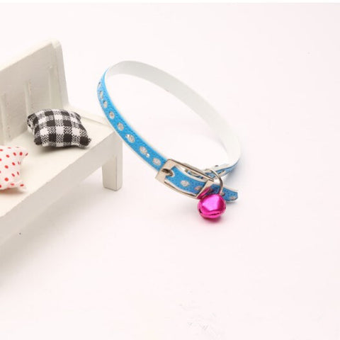 Exquisite Diamond Decoration Cat Collar-Blue Color