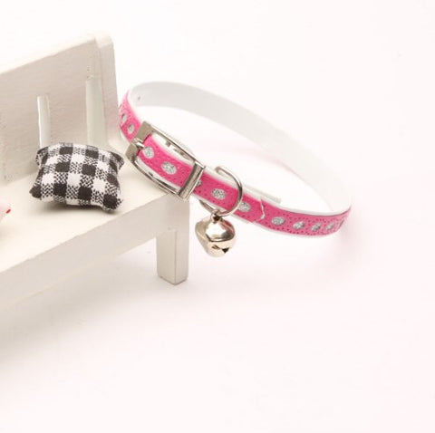 Exquisite Diamond Decoration Cat Collar-Pink Color