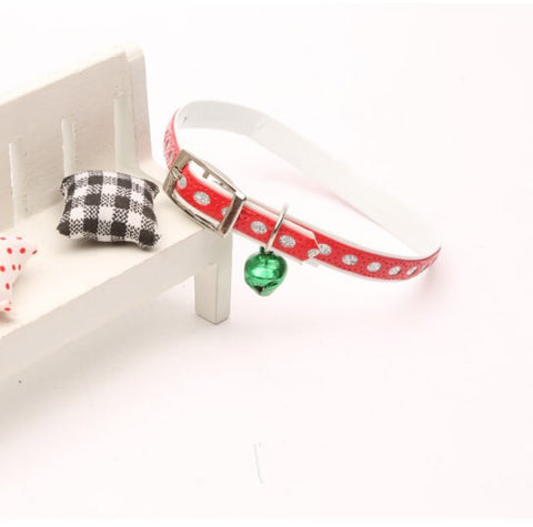 Exquisite Diamond Decoration Cat Collar-Red Color