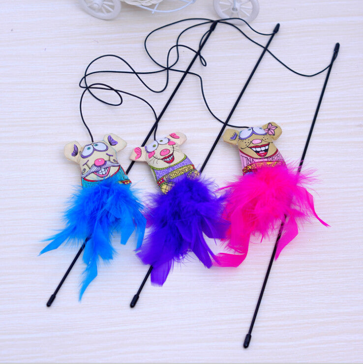 Feather Cat Toys Random Color