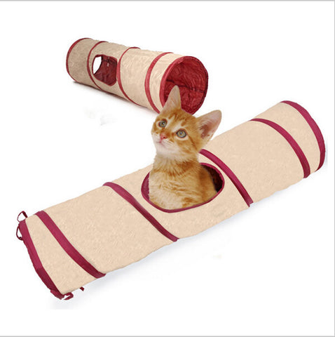 Foldable 1 Holes Cats Play Tunnel