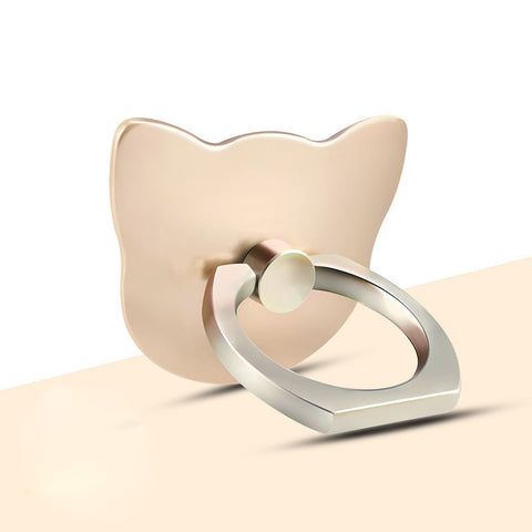 Lovely Cat Lazy Creative Ring Bracket-Gold color
