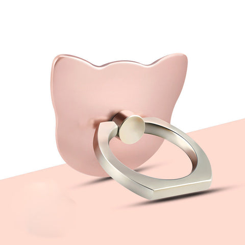 Lovely Cat Lazy Creative Ring Bracket-Rose Gold