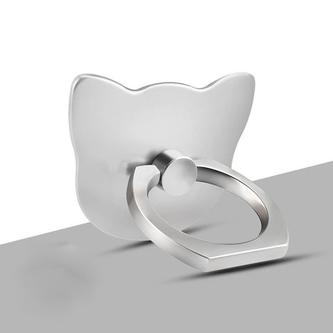 Lovely Cat Lazy Creative Ring Bracket-Silver color