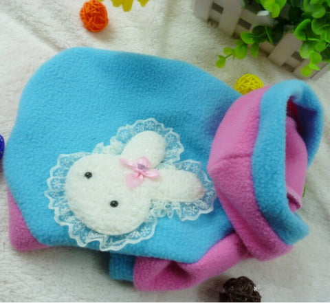 Lovely Lace Rabbit Cat Clothing-Blue color