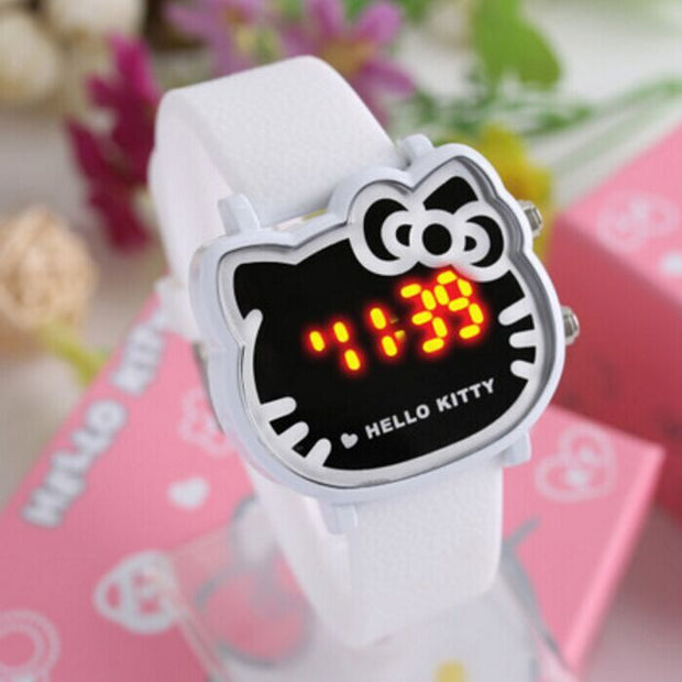 White Hello Kitty Waterproof Child Watch