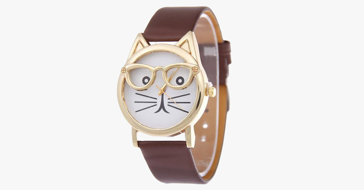 Cat Face Quartz Watches