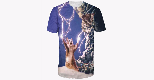 3D Print Lightening Cat T-shirt