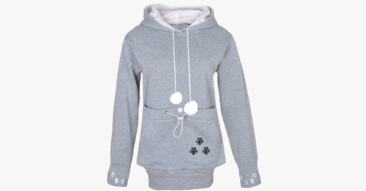 Original Cat Kangaroo Hoodie The Meow Shop - Hoodie with kangaroo pouch is the perfect cat accessory