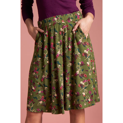 King Louie Serena Skirt Kansas in Olive Green