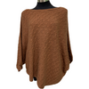 See Saw Lambswool Cable Cape in Ginger