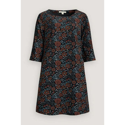 Seasalt West Pentire Dress in Garden Sketch Black