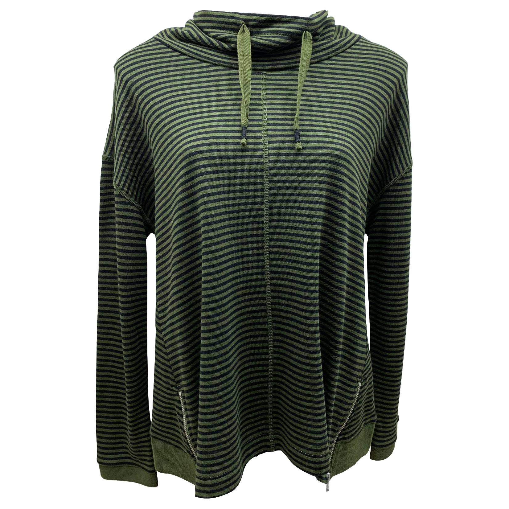Foil Band On The Run Sweat shirt in Moss/Black