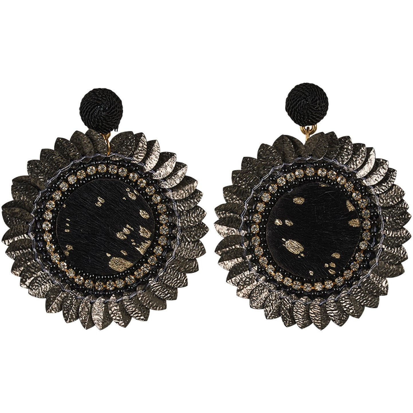 eb&ive Tata Flora Earrings in Black