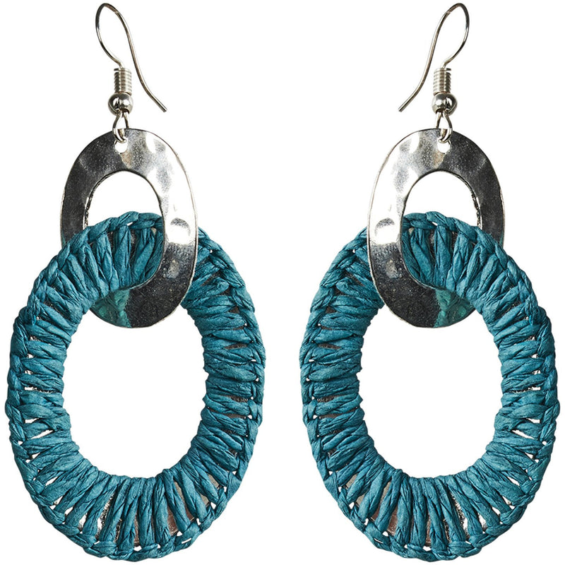 eb&ive Ohana Link Earrings in Teal
