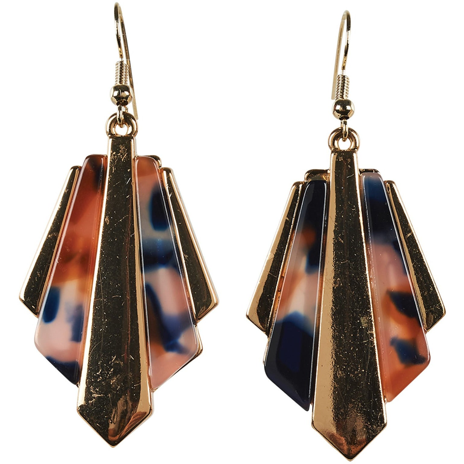 eb&ive Zena Jagged Earrings in Ember