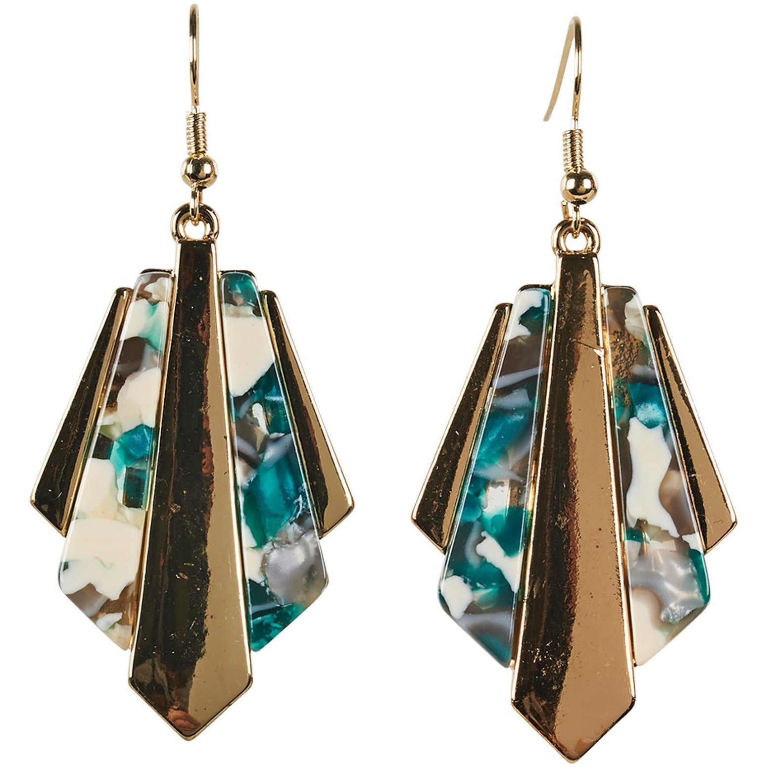 eb&ive Zena Jagged Earrings in Jadestone