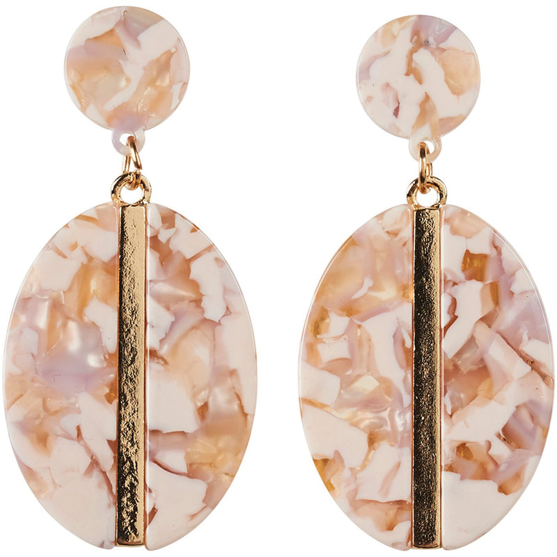 eb&ive Zena Oval Earrings in Bisque